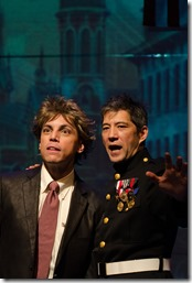 """Michael Reyes and Daniel Smith star in Stage Left and Red Tape Theatre's """"Mutt"""" by Christopher Chen, directed by Vanessa Stalling. (photo credit: Tom McGrath)"""