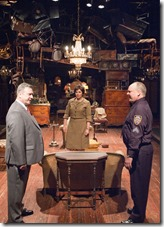 """Roderick Peeples, Kymberly Mellen and Bret Tuomi star in TimeLine Theatre's """"The Price"""" by Arthur Miller, directed by Louis Contey."""