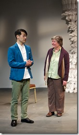 Ben Chang, Ann James and Bob Kruse in Caught by Christopher Chen, Sideshow Theatre