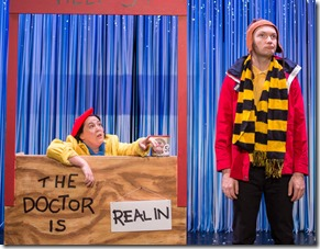 Veronica Garza and Jason Groff star as Lucy and Charlie Brown in Broadway in Chicago