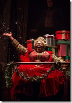 Lisa Gaye Dixon as Ghost of Christmas Present in A Christmas Carol at Goodman Theatre