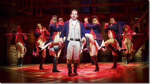 Miguel Cervantes stars as Alexander Hamilton in Hamilton by Lin-Manuel Miranda, Broadway Chicago