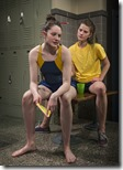 Jessica Ervin and Bryce Gangel in Dry Land, Rivendell Theatre