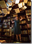 Maria Velazquez in Library from Learning Curve, Albany Park Theater Project