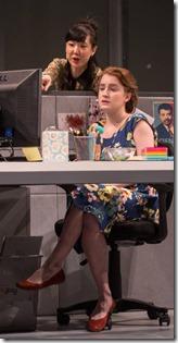 Jennifer Kim, Catherine Combs and Kyle Beltran star as Kendra, Ani and Miles in Gloria, Goodman Theatre