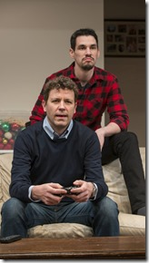Madison Dirks and Ryan Hallahan star as Jake and Drew in Straight White Men, Steppenwolf