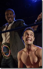 Semaj Miller and Alejandro Tey star as Chad Deity and Mace at Red Theater