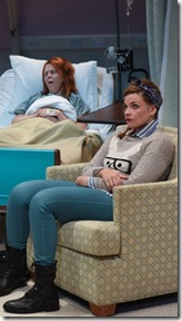 Stef Tovar, Meg Thalken and Mary Williamson star in A Funny Thing Happened, Route 66 Theatre