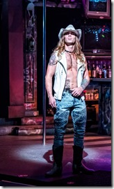 Adam Michaels stars as Stacee Jaxx in Rock of Ages at Drury Lane Theatre