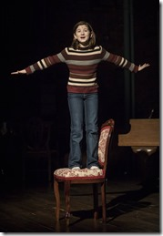 Stella Rose Hoyt stars as Small Alison Bechdel in Fun Home, Victory Gardens Theater