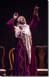 Susaan Jamshidi stars as Yasmina in Yasmina's Necklace at Goodman Theatre