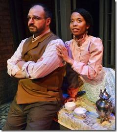 Dan Granata as Levin and Brandi Lee as Kitty in Anna Karenina, Lifeline Theatre