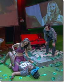 Daniella Pereira, Echaka Agba and Japhet Balaban star as Tori, Meredith and Guy at Theater Wit