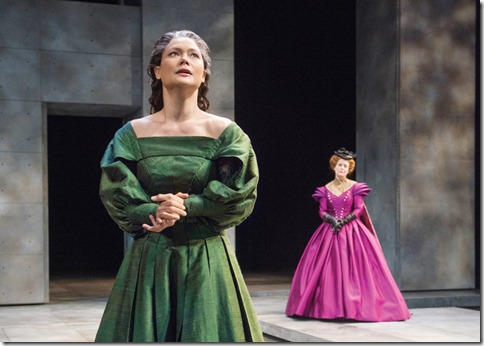 K.K. Moggie and Kellie Overbey star as Mary Stuart and Queen Elizabeth I in Schiller's Mary Stuart