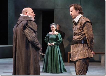 Kevin Gudahl, Andrew Chown and K.K. Moggie star as Paulet, Mortimer and Mary Stuart