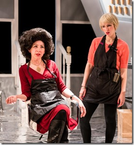 Kim Boler and Madelyn Loehr star in Bad Girls The Stylists, Akvavit Theatre (photo by Karl Clifton-Soderstrom)