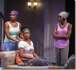 Lily Mojekwu, Ericka Ratcliff and Tamberla Perry star in Plantation, Lookingglass Theatre