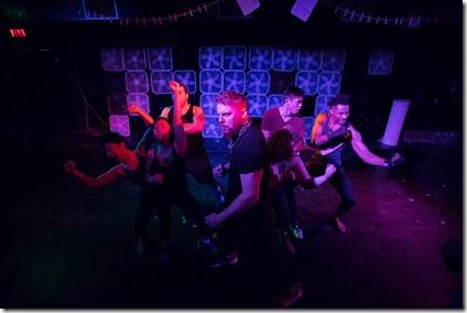 Story Told in Seven Fights cast, Neo-Futurists Theatre, photo by Joe Mazza