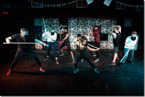 Story Told in Seven Fights cast, by Neo-Futurists Theatre, photo by Joe Mazza