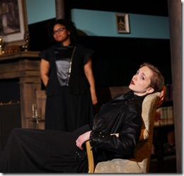 Taylor Wisham and Kat Christensen star in Why Do You Always Wear Black, Organic Theater
