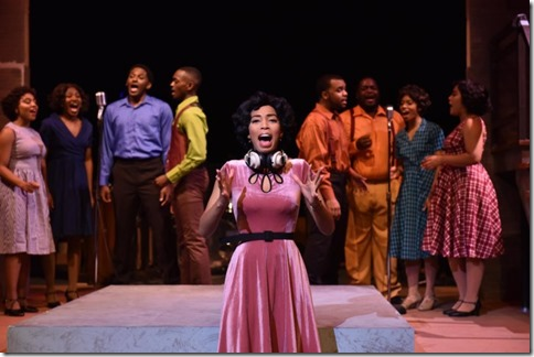 Aeriel Williams stars as Felicia Farrell in Memphis at Porchlight Music Theatre