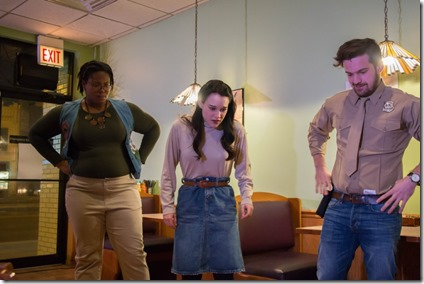 Nicole Michelle Haskins, Emily Goldberg and Alex Christ star in Spitfire Grill, Refuge Theatre