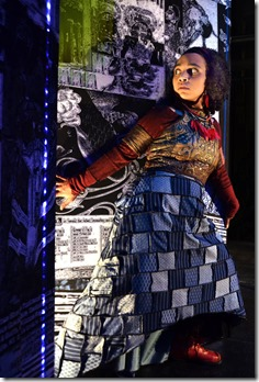 Samantha Newcomb stars as Door in Neverwhere at Lifeline Theatre