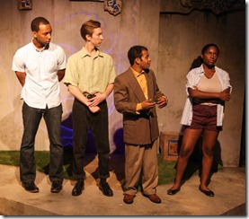 Chris Taylor, Samuel Martin, Eldridge Shannon III and JoJo Pender star in Defacing Michael Jackson