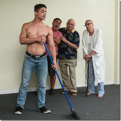 Jesse Montoya, Tom Chiola, Charles A. Berglund and Danne W. Taylor star in Hurrican Damage, Pride Arts