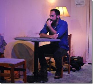 Joe Lino stars as David in Tres Bandidos, Agency Theater Collective Chicago