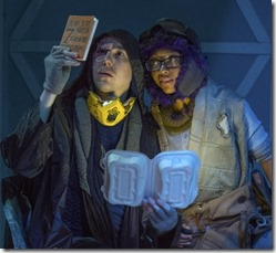 Ben Hertel and Tia Pinson star as Titus and Cozbi in Borealis, House Theatre Chicago