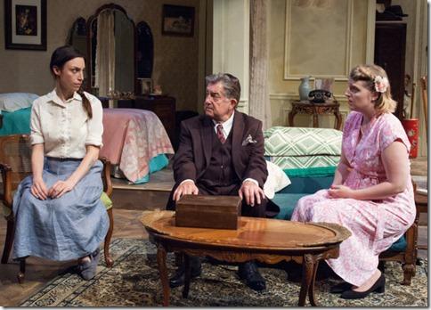Emily Berman (Lusia), Charles Stransky (Mordechai) and Bri Sudia (Rose) star in A Shayna Maidel, TimeLine