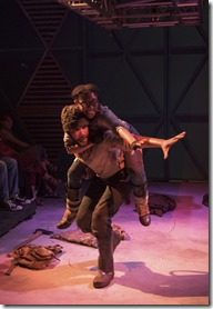 Tia Pinson and Desmond Gray star as Cozbi and Absalom in Borealis, The House Theatre Chicago