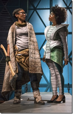 Tia Pinson and McKenzie Chinn star as Cozbi and Burke in Borealis, The House Theatre Chicago