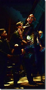 Trent Davis, Chris Hainsworth, and Emily Ayre star as the Creature, Ann Sonneville stars as Victoria in Frankenstein