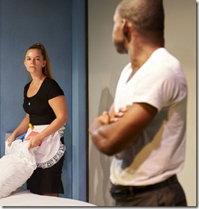Elizabeth Wigley and Debo Balogun star in Zürich at Steep Theatre (LM)