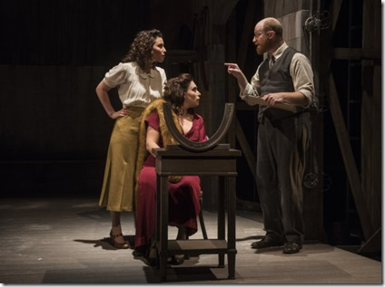 Kiah Stern, Catherine LeFrere and Benjamin Magnuson star in Indecent, Victory Gardens Theater