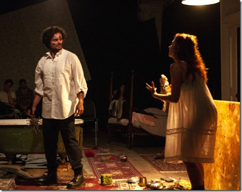 Maria Stephens and Jacob Alexander star as Phoebe and Jeremiah in Phoebe in Winter, Facility Theatre