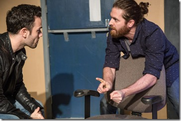 Alejandro Tey and Adam Soule star as Llermo and Bobby in Plainclothes, Broken Nose Theatre