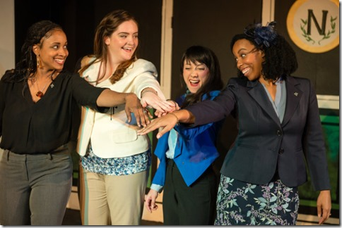 Amber Cartwright, Katherine Duffy, Rachael Soglin and Raina Lynn star in Love's Labour's Lost, Invictus Theatre
