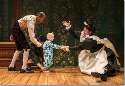 Anthony Irons, Kasey Foster and Christopher Donahue star in The Steadfast Tin Soldier, Lookingglass Theatre