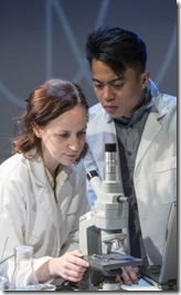 Ashley Neal and Glenn Obrero star as Amy and Danny in Scientific Method, Rivendell Theatre