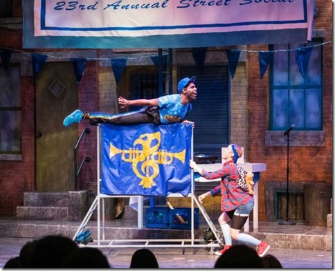 Breon Arzell and Ella Raymont star in Bros do Prose Peter Pan, Photo by Christian Libonati
