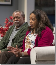 Cedric Young and Jacqueline Williams star as Donald and Margaret Munyewa in Familiar, Steppenwolf Theatre