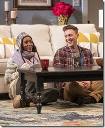 Celeste M. Cooper (Nyasha) and Luigi Sottile (Brad) star in Familiar, Steppenwolf Theatre