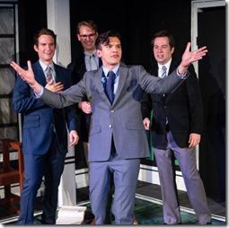 Charles Askenaizer, Taylor Glowac, Chad Bay and Samual Cheeseman in Love's Labour's Lost, Invictus Theatre