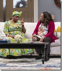 Cheryl Lynn Bruce and Jacqueline Williams star as Anne and Margaret Munyewa in Familiar, Steppenwolf Theatre