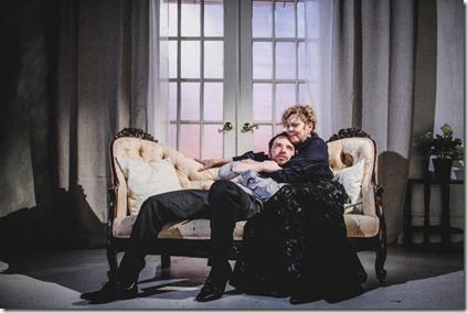 Devon Nimerfroh (Oswald Alving) and Jacqueline Grandt (Helen Alving) star in Ghosts, Redtwist Theatre