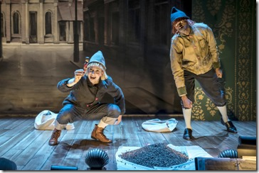 Kasey Foster and Antony Irons star in The Steadfast Tin Soldier, Lookingglass Theatre
