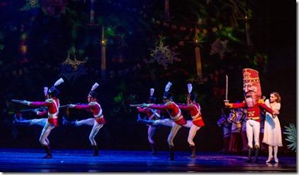 Alonso Tepetzi and Cara Marie Gary star in The Nutcracker by Christopher Wheeldon, Joffrey Ballet